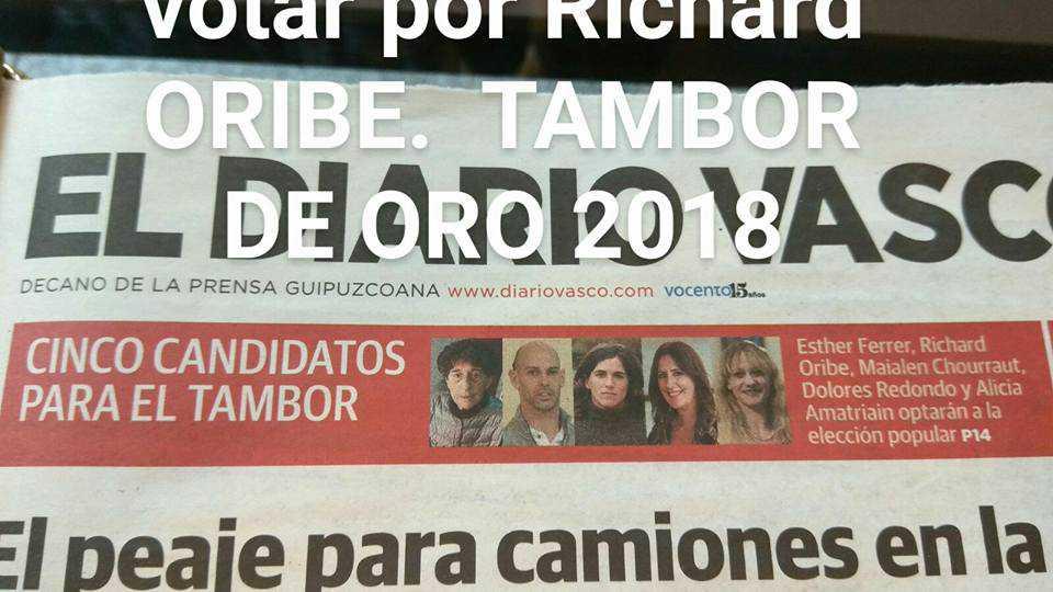 Ya se puede votar a Richard como candidato al Tambor de Oro 2018 - Konporta